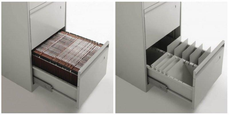 Classificatore metallico verticale a 2 cassetti - Porta cartelle sospese ikea ...
