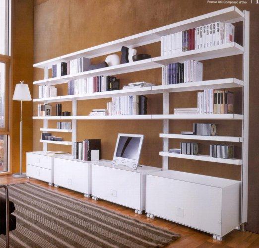 Libreria mod big parete librerie componibili mobili for Mobili metallici per ufficio