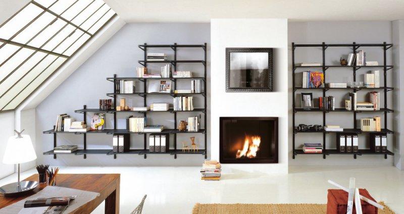 Libreria mod socrate parete profondit cm 45 librerie componibili mobili per ufficio - Mobili profondita 30 cm ...