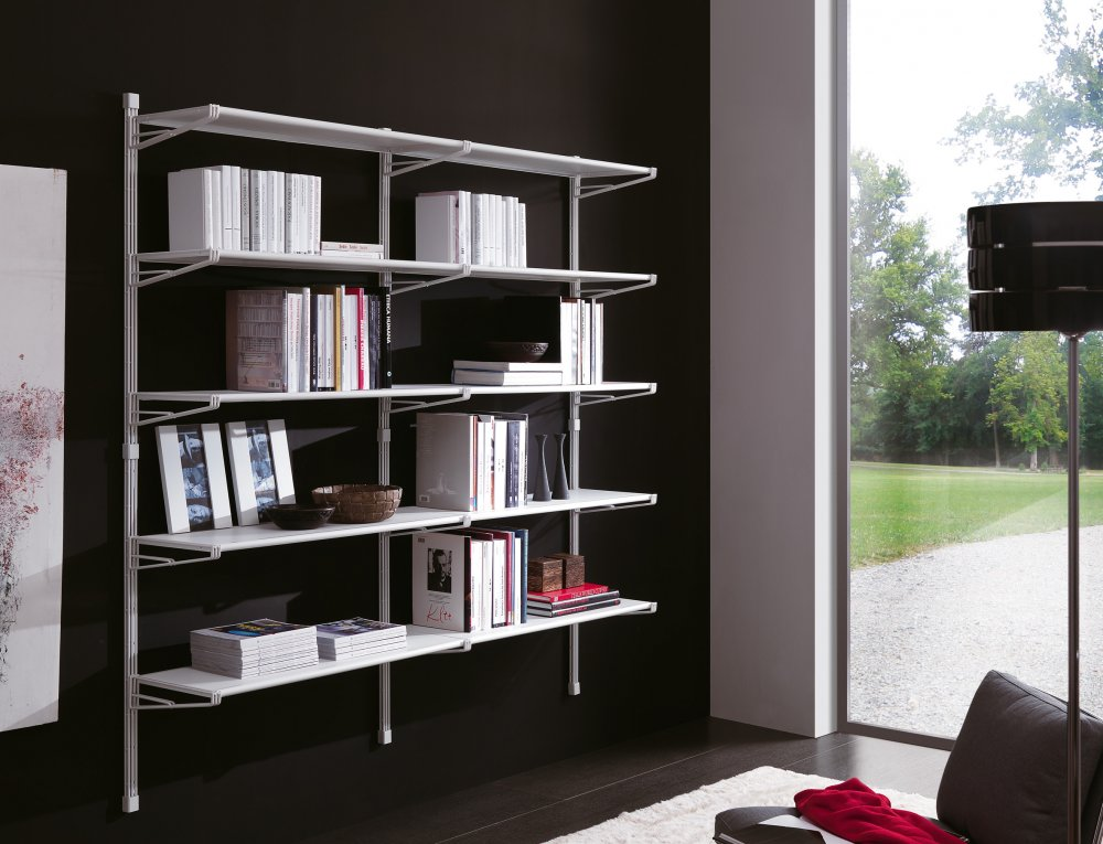 Libreria mod socrate parete profondità cm librerie