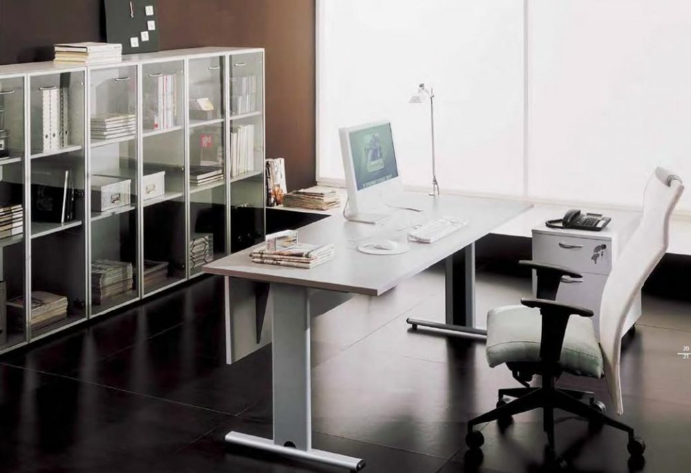 Ufficio Scrivania Jobs : Scrivania mr job gamba metallica bon scrivanie operative