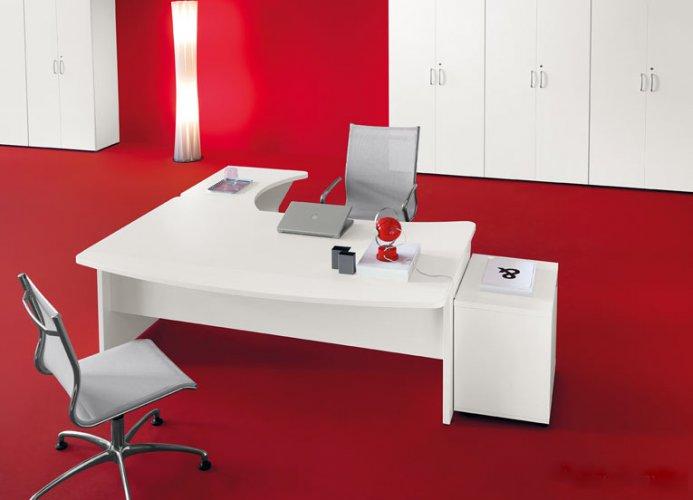 Scrivania mod kompas bianco dr scrivanie operative for Negozi mobili ufficio