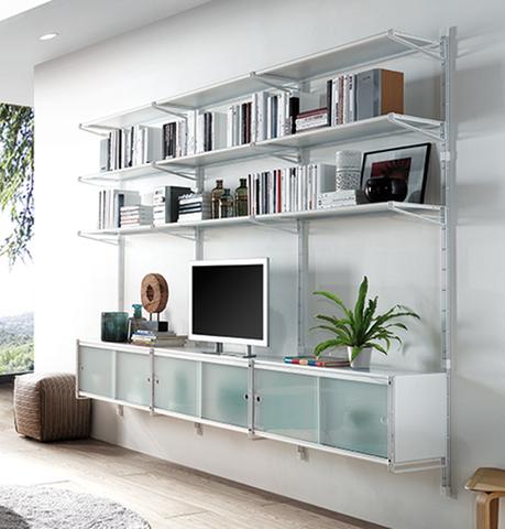 Libreria mod socrate parete profondit cm 35 librerie for Mobili metallici per ufficio