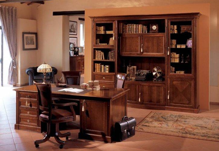 Scrivania presidenziale mod duca mobili per ufficio for Scrivanie mobili
