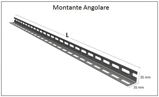 Montanti Scaffali Metallici.Scaffalature A Bullone Su Misura Zincate Scaffali A