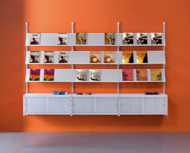 Arredo modulare socrate parete ca agenzia viaggi for Arredamento per agenzia immobiliare