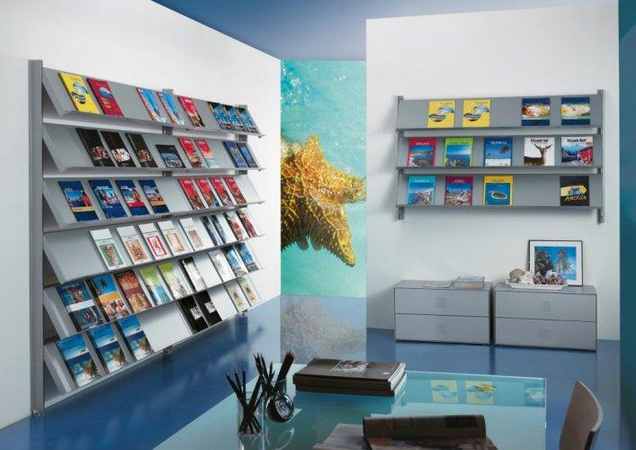 Agenzia viaggi prodotti appia office arredi negozi for Arredamento agenzia viaggi