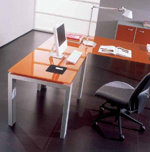 Scrivania presidenziale kristall piano vetro bon for Scrivania vetro ufficio