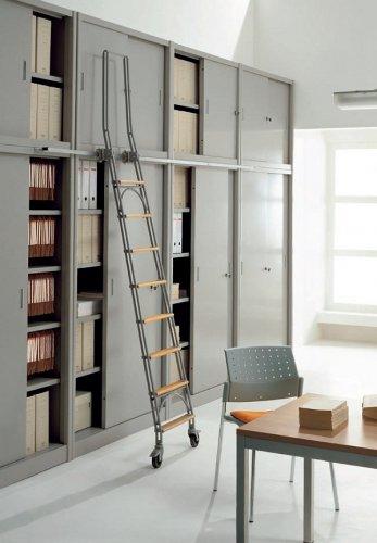 Scale a gancio e scale scorrevoli prodotti appia for Scala scorrevole per libreria