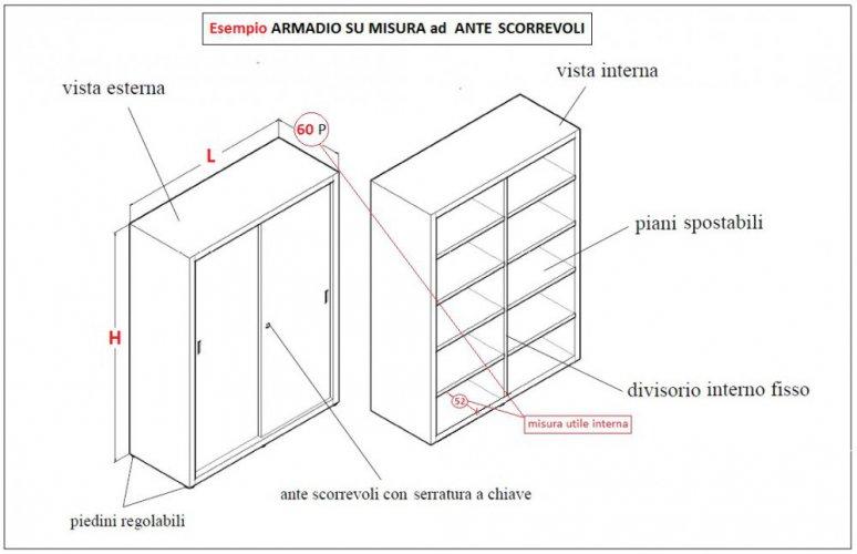 Armadi Ante Scorrevoli Misure Standard.Armadi Metallici Su Misura Zincati Armadi Metallici Zincati Su