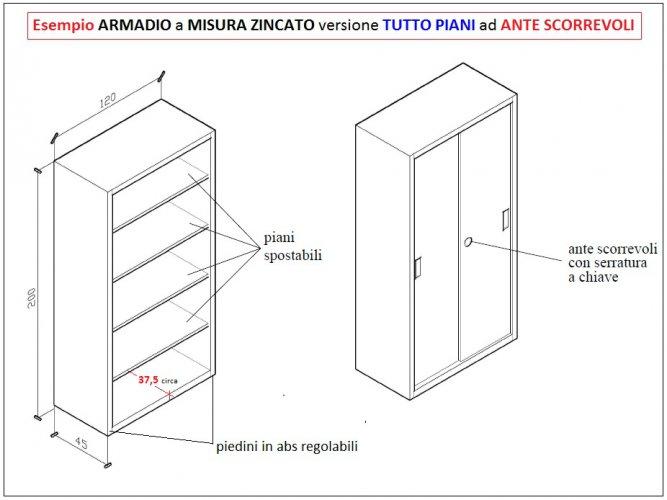 Armadio Ante Scorrevoli Misure Standard.Armadi Metallici Su Misura Zincati Armadi Metallici Zincati Su