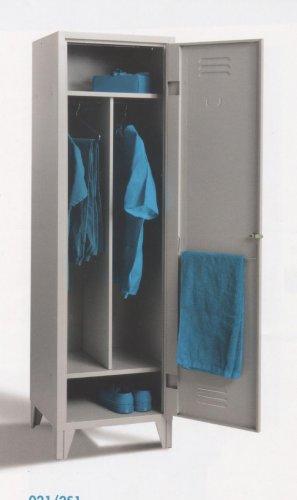 Armadi spogliatoio mod sporco pulito prodotti appia for Armadietti metallo