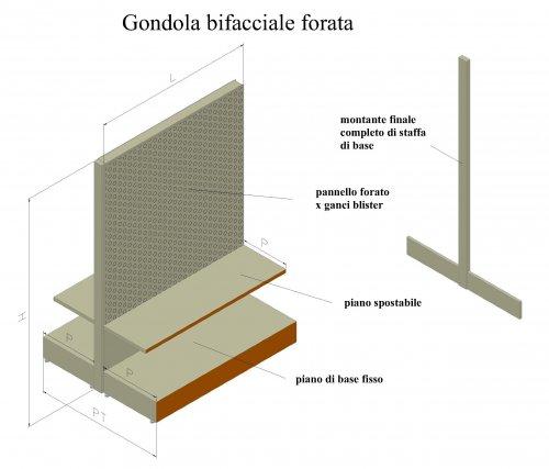 Scaffali A Gondola Prezzi.Scaffalatura Self Service Gondola Centrale Bi Facciale